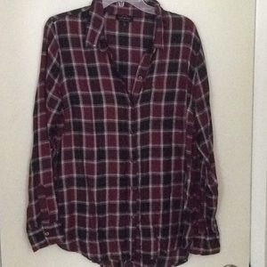 Lucky brand flannel shirt size L